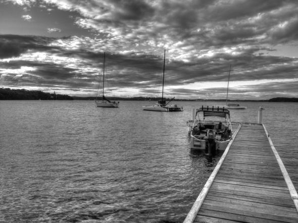 Boat on Jetty @ Dusk