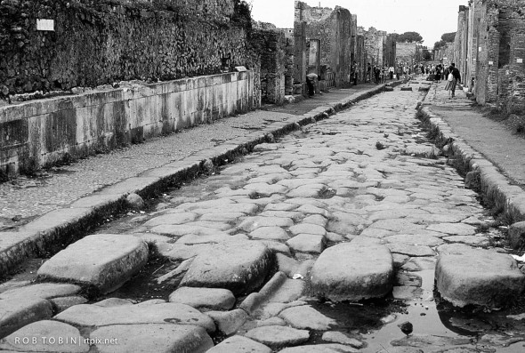 A Two way Street in Pompeii