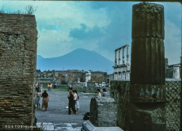Just like it was then with Vesuvius in the background