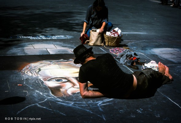 Chalk Artist In Cologne