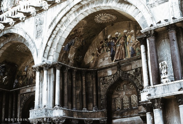 The Arch Soffit and facade of St Marks Basilica