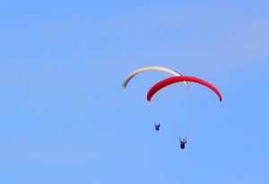 Paragliding off Warriewood