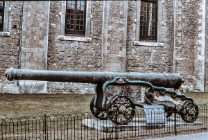 Intricate Bronze Canon