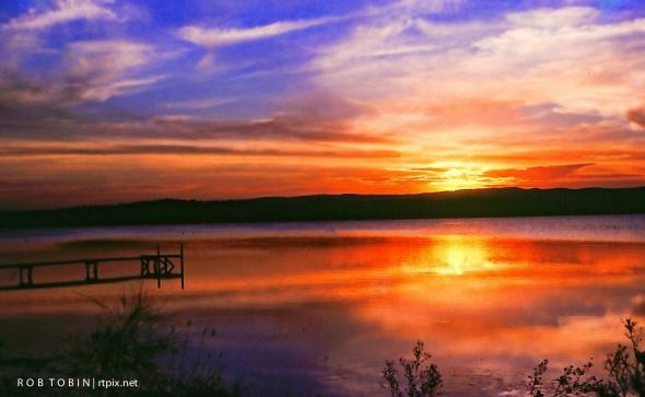 Warners Bay At Sunset
